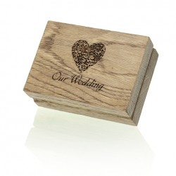 "Luxury Wood ""Our Wedding"" Pendrive Case."