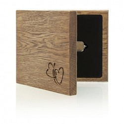 "Luxury Wood - ""Our Wedding"" Pendrive Case."