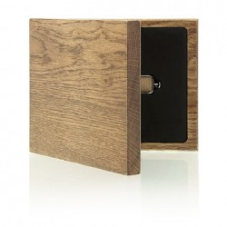 Luxury Wood - Pendrive Case with stylish drawing.