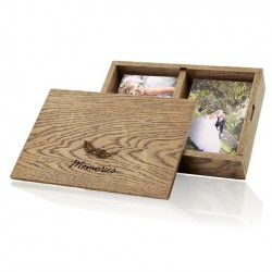 "Luxury Wood - ""Memories"" Photo & Pendrive Box"